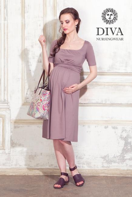 Платье для кормящих и беременных Diva Nursingwear Stella, Cacao