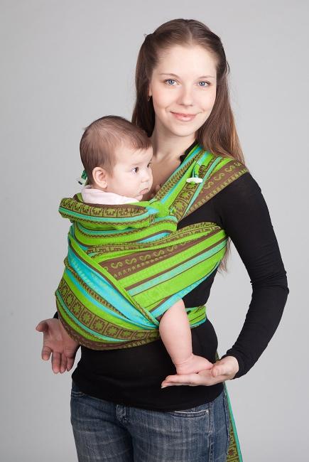 Май-слинг Ellevill Zara Tricolor Green/ Zara Tricolor Green