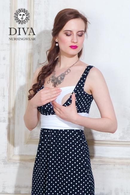 Сарафан для кормящих и беременных Diva Nursingwear Alba Maxi, Pois