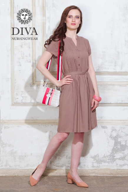 c620728a8297 Платье для кормящих и беременных Diva Nursingwear Gemma, цвет Мока ...
