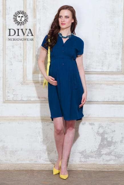 Платье для кормящих и беременных Diva Nursingwear Gemma, цвет Notte