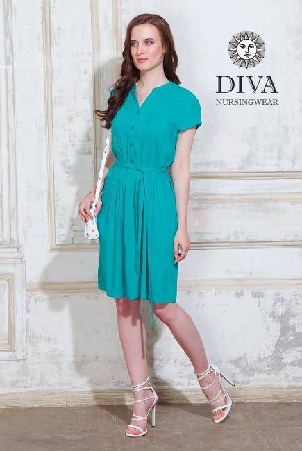 Платье для кормящих и беременных Diva Nursingwear Gemma, цвет Smeraldo
