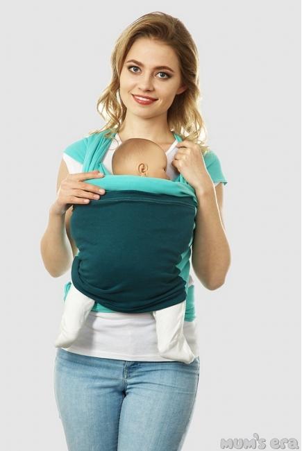 Слинг-шарф трикотажный Fusion, зеленый-зелено-синий