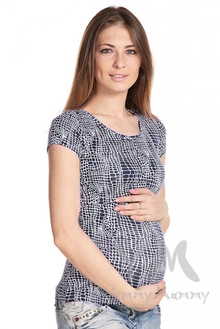 Футболка с рисунком для беременных и кормящих, синяя