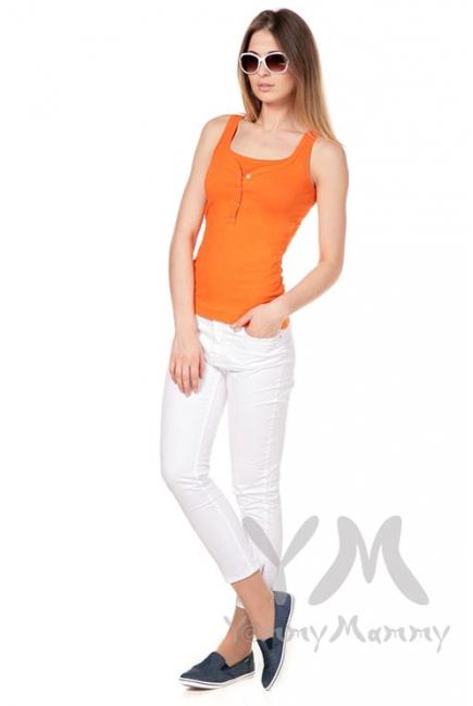 Майка поло для кормящих и беременных, оранжевая