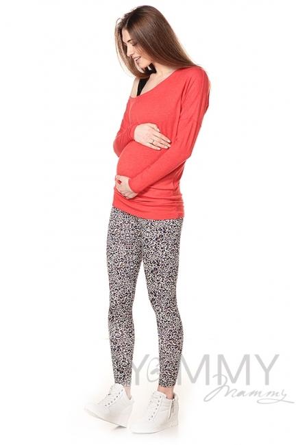 Лосины универсальные бежевый леопард для беременных