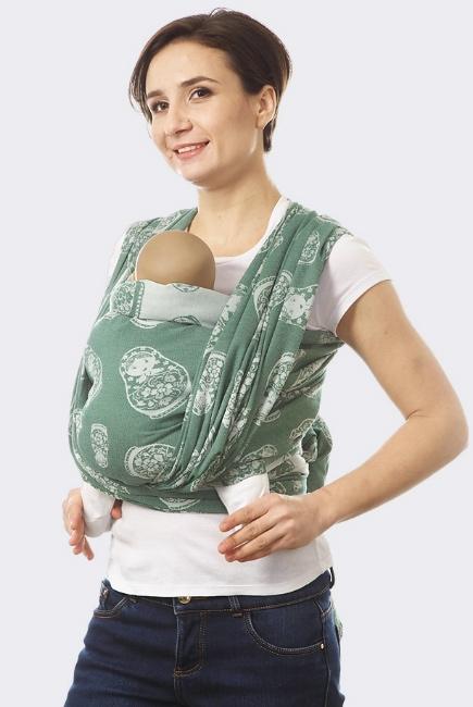 "Слинг-шарф ""Матрешка"", зеленый"