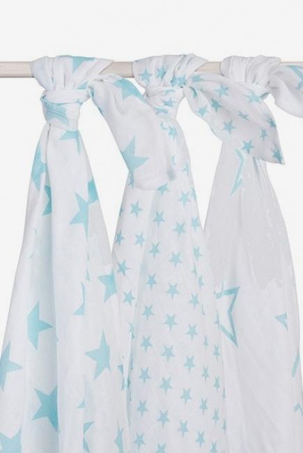 Муслиновые пеленки для новорожденных Jollein большие, Little Star Jade