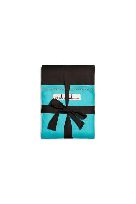 "Слинг-шарф JPMBB трикотажный, цвет ""темно-коричневый-бирюза"""