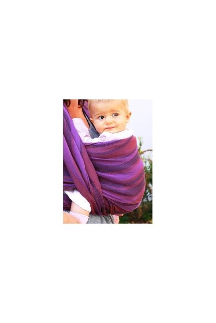 Слинг-шарф Didymos, Waves Holunder (фиолетовые волны)