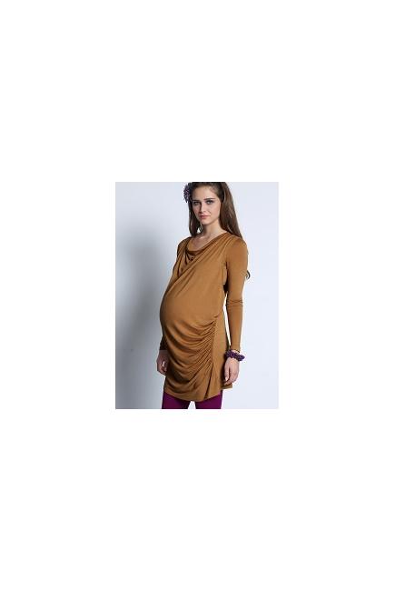 """Туника для кормления Mothers en Vogue """"Vesta Maxi"""", цвет верблюжий"""