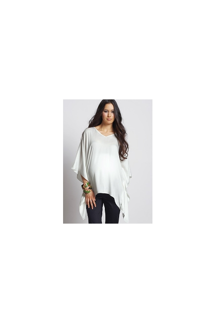 """Топ для беременных Mothers en Vogue """"Bianca Kaftan"""", цвет белый"""