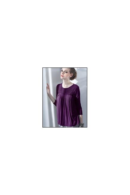"""Топ для кормления Mothers en Vogue """"Honeycomb Swing"""", цвет фиолетовый"""