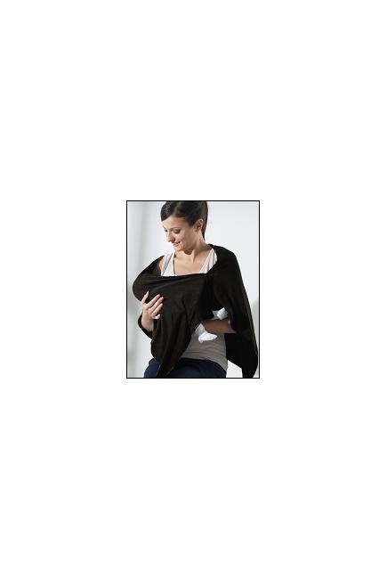 Пончо для кормления Mothers en Vogue из бамбука, цвет черный