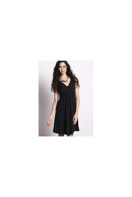 """Платье Mothers en Vogue """"Wrap Dress"""", короткий рукав, цвет черный"""