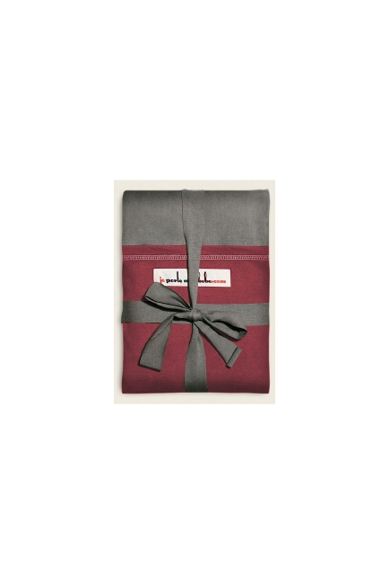 "Слинг-шарф JPMBB трикотажный, цвет ""серый - терракота"""