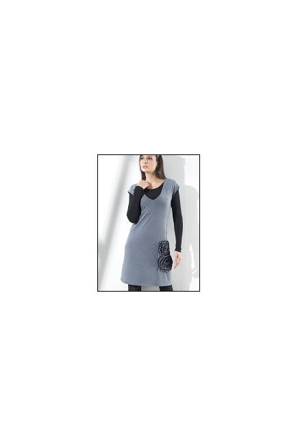 """Туника Mothers en Vogue """"Adriana Applique"""", цвет серый"""