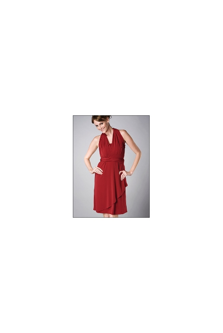 """Платье для кормления MaternaLove """"Signature"""", красный цвет"""