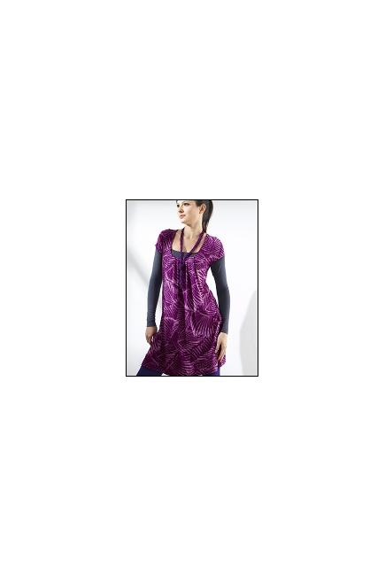 """Туника Mothers en Vogue """"Slouchy Pocket"""", фиолетовый принт"""