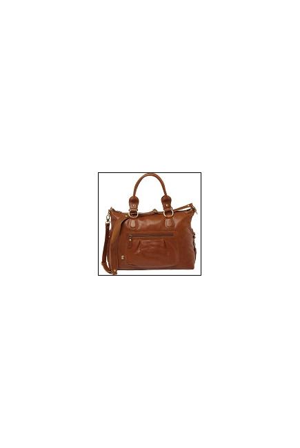 Сумка для мамы OiOi Leather Slouch Tote, цвет коричневый