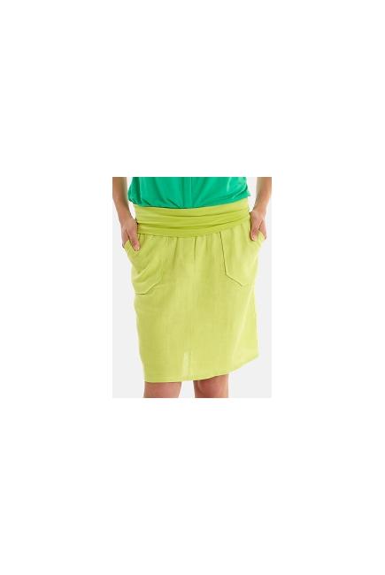 Юбка для беременных и родивших Mothers en Vogue Linen Utility, зеленый
