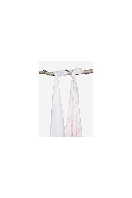 Комплект бамбуковых пеленок для новорожденных 2 шт. Jollein, Balloons pink