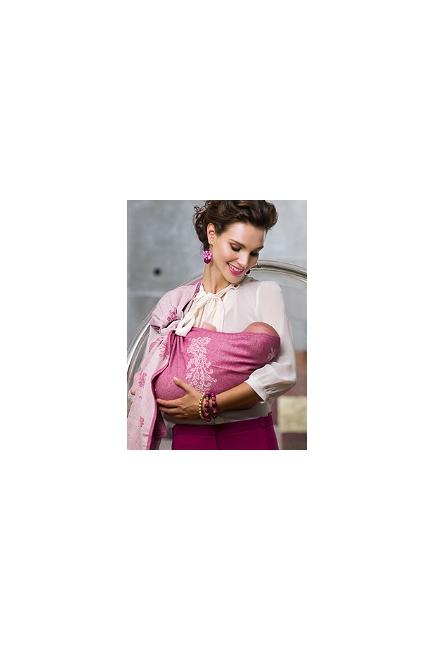 Слинг с кольцами Diva Milano с шерстью, Reticella Rosa