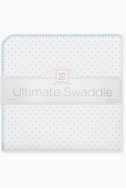 Фланелевая пеленка для новорожденного SwaddleDesigns Pstl Blue Dot