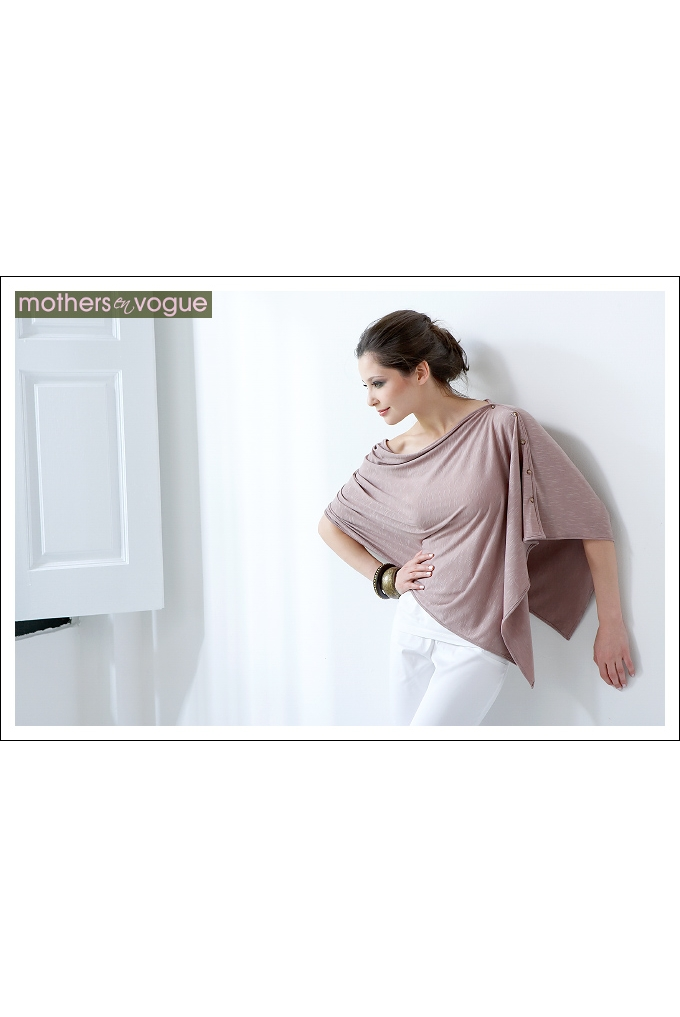 33b3da09f36b Пончо для кормления Mothers en Vogue из бамбука, цвет розово-бежевый ...